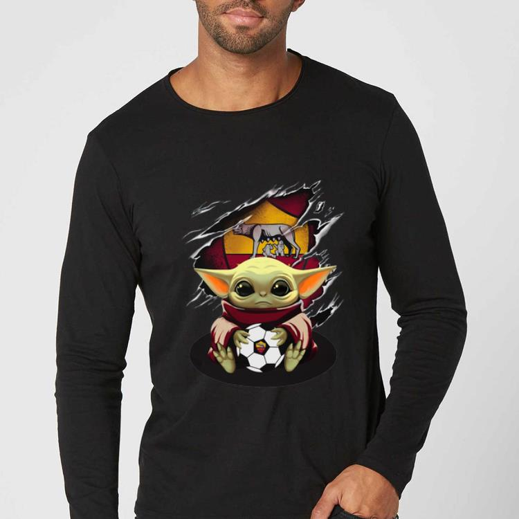 Official Star Wars Baby Yoda Blood Inside As Roma shirt 4 - Official Star Wars Baby Yoda Blood Inside As Roma shirt