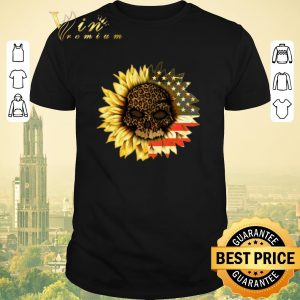 Premium American flag USA Sunflower Skull leopard shirt sweater