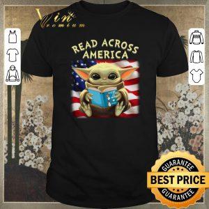 Premium Baby Yoda read across America flag shirt sweater