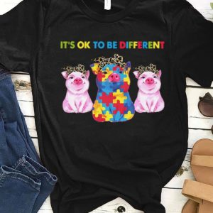 Premium Pigs It's Ok To Be Different Autism shirt
