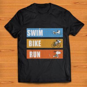 Premium Snoopy Swim Bike Run shirt