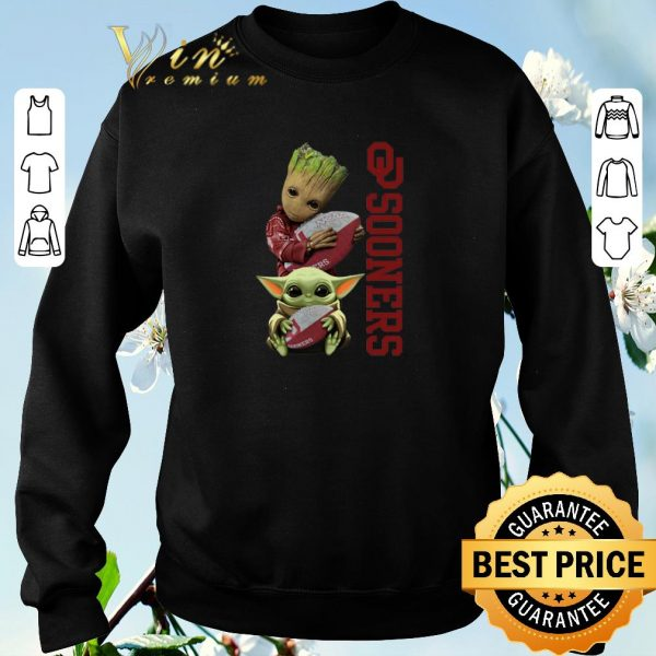 Pretty Baby Groot And Baby Yoda Hug Oklahoma Sooners shirt sweater