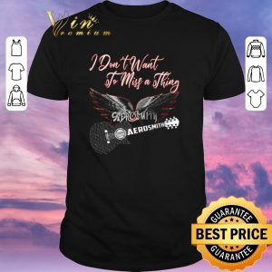 Pretty I don't want to miss a thing Aerosmith guitar shirt sweater