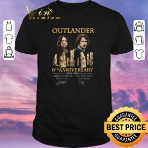 Pretty Outlander 6th anniversary 2014 2020 all signature autographed shirt sweater