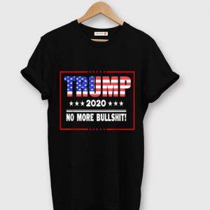Pretty Trump 2020 No More Bullshit American Flag shirt