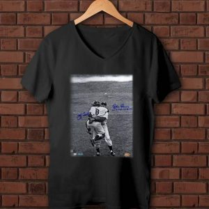 Pretty Yogi Berra & Don Larsen New York Yankees 1956 World Series Perfect Game Signatures shirt