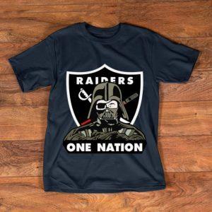 Top Darth Vader NFL Oakland Raiders One Nation shirt