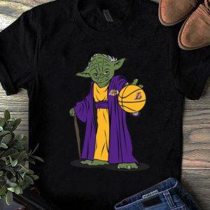 Top Master Yoda Basketball Los Angeles Lakers shirt