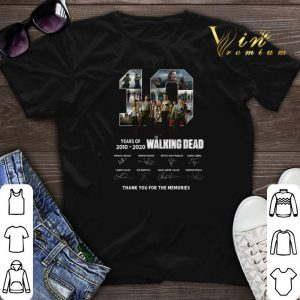 10 years of The Walking Dead 2010 2020 signatures thank you for the memories shirt sweater
