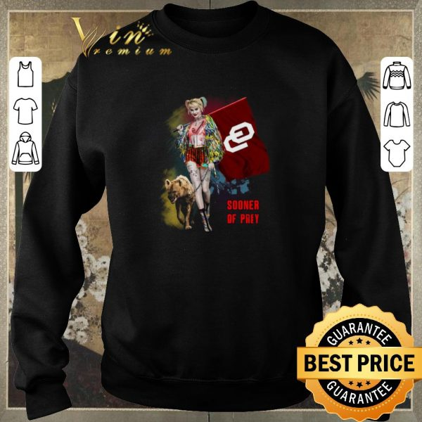 Awesome Harley Quinn Oklahoma Sooners Of Prey shirt sweater