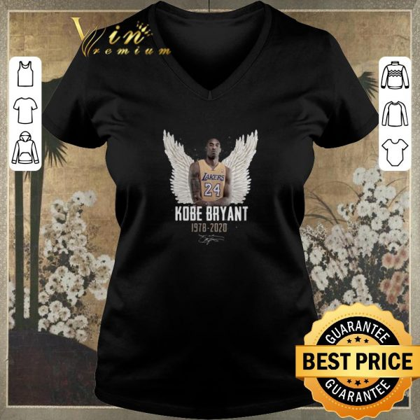 Awesome Rip Kobe Bryant 1978 2020 signature wings haven shirt