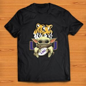 Beautiful Baby Yoda Hug LSU Tigers Star Wars shirt