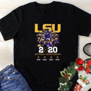 Cool LSU Tigers 2020 National Championship 1958 2003 2007 2019 shirt