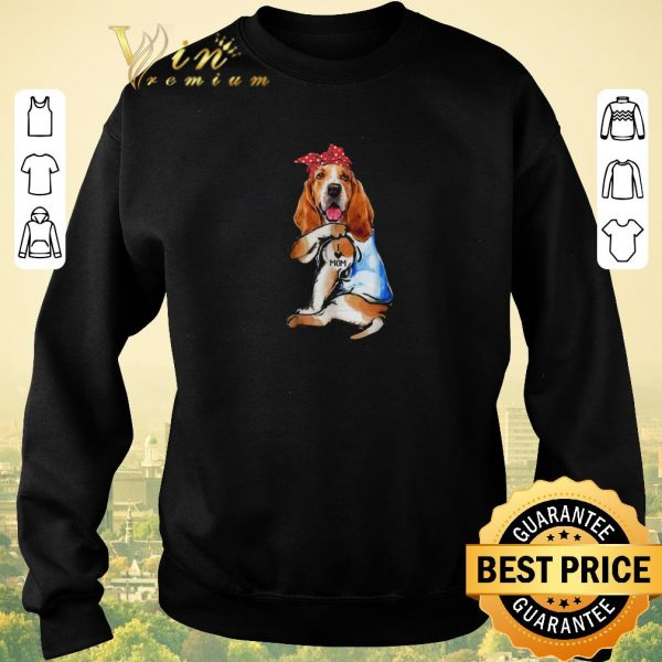 Funny Dog Basset Hound I Love Mom shirt sweater