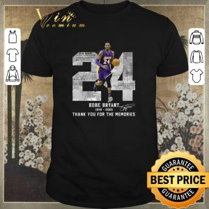 Funny Rest in peace Kobe Bryant 24 Thank you for the memories signed shirt sweater