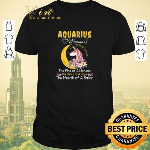 Funny Unicorn aquarius woman the soul of a unicorn the fire of a lioness shirt sweater