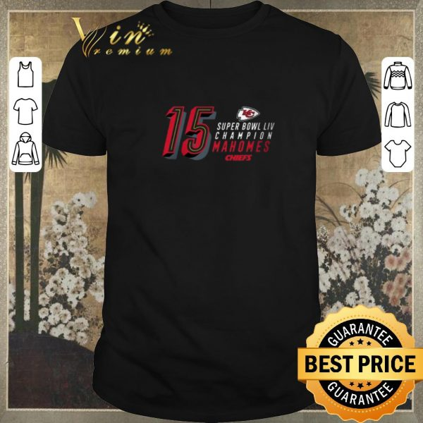 Hot 15 Patrick Mahomes Kansas City Chiefs Super Bowl LIV Champions shirt sweater