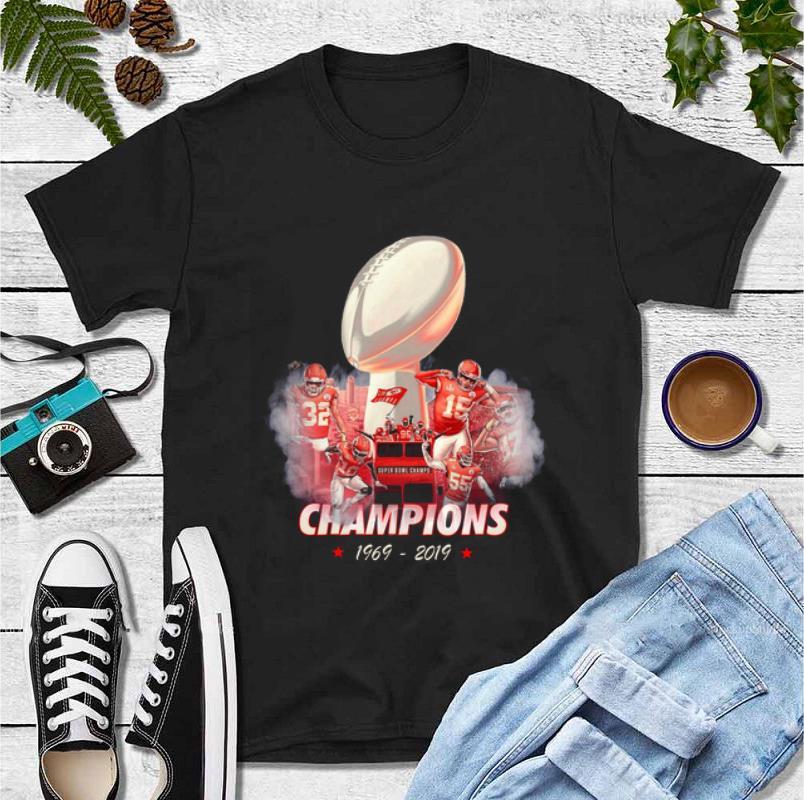 Hot 50 Years Kansas City Chiefs Champions 1969 2019 shirt 4 - Hot 50 Years Kansas City Chiefs Champions 1969 – 2019 shirt