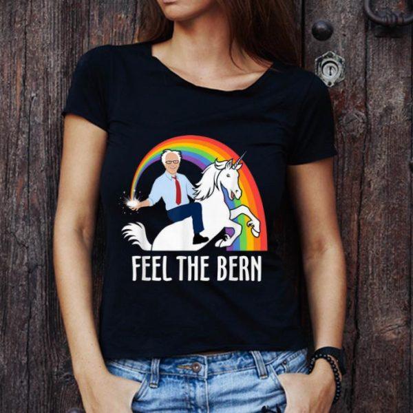 Hot Feel The Bern Riding Unicorn Bernie Sanders shirt