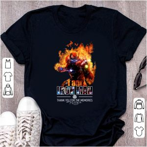 Hot I Am Iron Man Thank You For The Memories Signature shirt