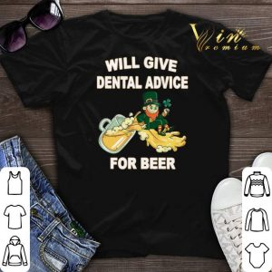 Leprechaun will give dental advice for beer St. Patrick's day shirt sweater