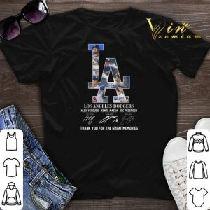 Los Angeles Dodgers signatures thank you for the great memories shirt sweater