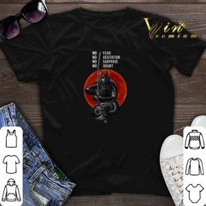 Musashi Samurai No Fear NO Hesitation No Surprise No Doubt Sunset shirt sweater
