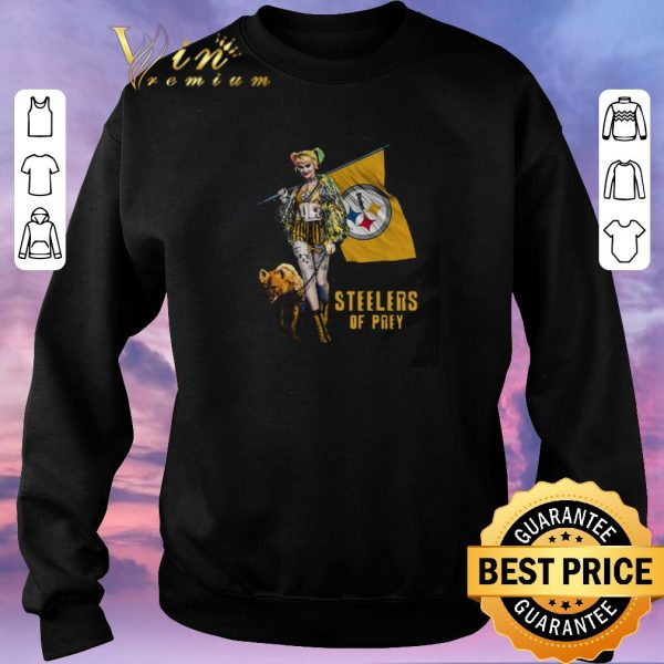 Nice Harley Quinn Flag Pittsburgh Steelers Birds Of Prey shirt sweater