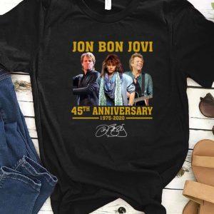 Nice Jon Bon Jovi 45th Anniversary 1975 2020 Signature shirt