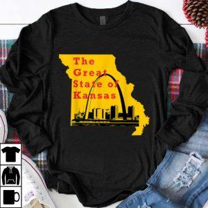Nice Kansas City Chiefs The Great State Of Kansas Trump shirt