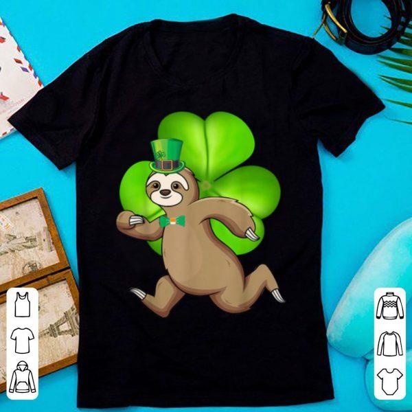 Nice Sloth Running Shamrocks St Patricks Day Animal Lover shirt