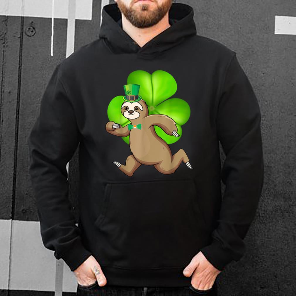 Nice Sloth Running Shamrocks St Patricks Day Animal Lover shirt 4 - Nice Sloth Running Shamrocks St Patricks Day Animal Lover shirt