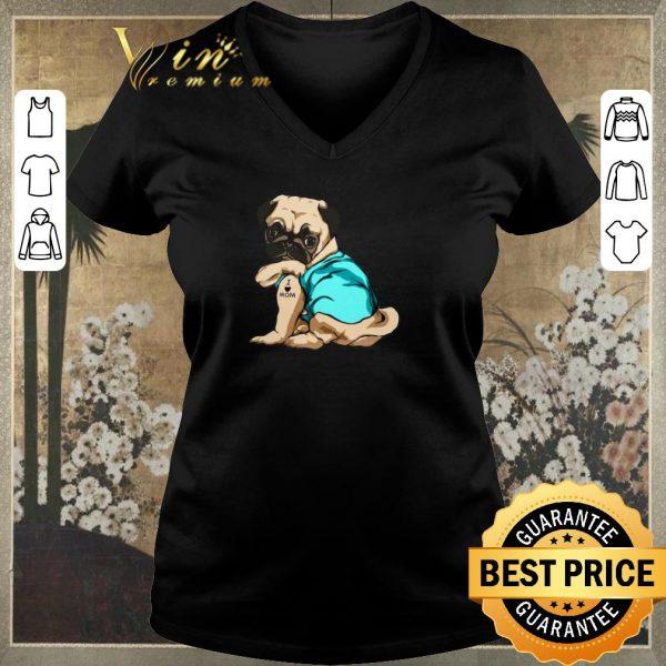 Nice Tattoos Pug I Love Mom shirt sweater