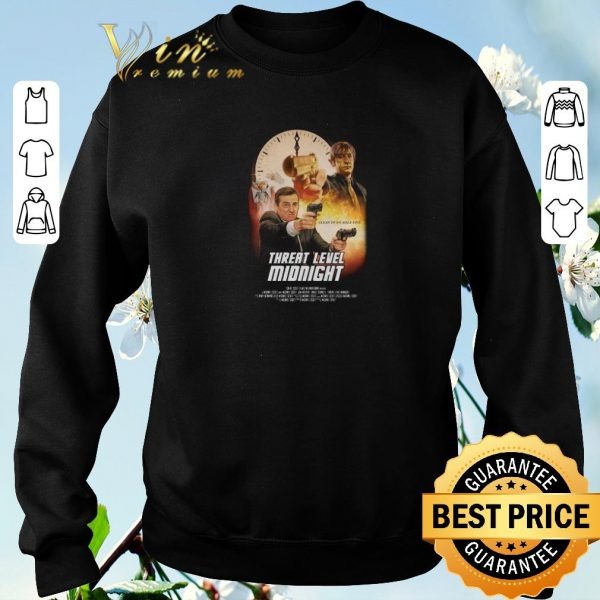 Nice Threat Level Midnight Clean Up On Aisle Five shirt sweater