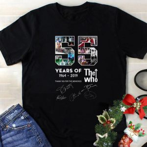 Official 55 years of 1964-2019 The Who thank you for the memories signatures shirt