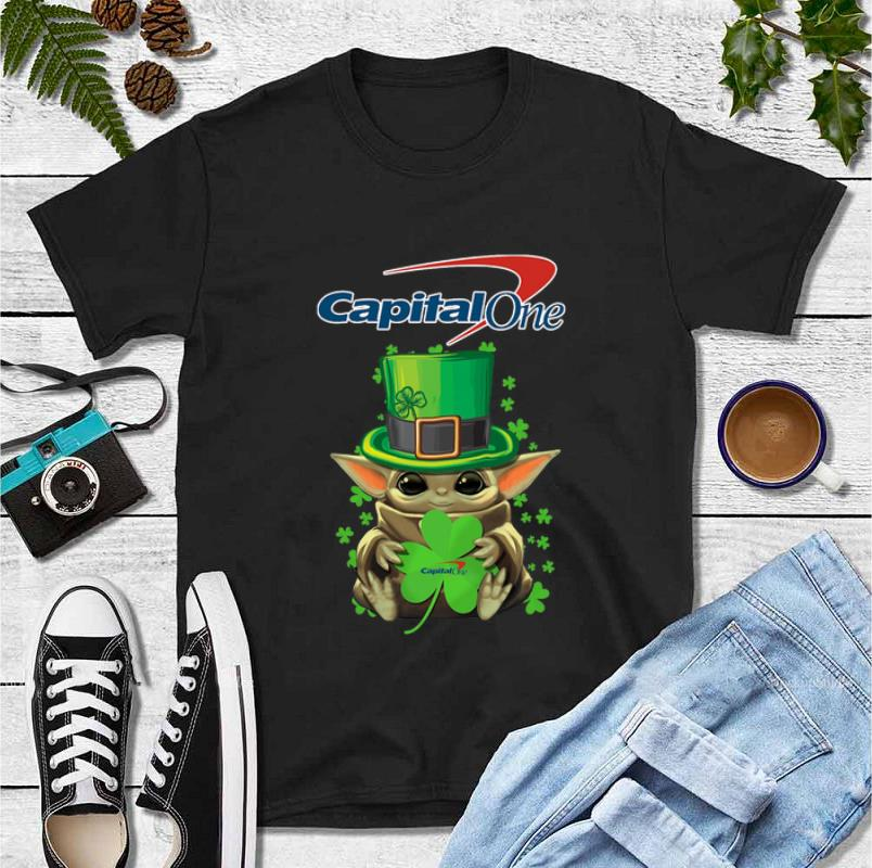 Official Baby Yoda Capital One Shamrock St Patrick s Day shirt 4 - Official Baby Yoda Capital One Shamrock St.Patrick's Day shirt