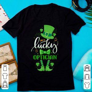 Official Matching St Patricks Day Leprechaun I'm A Lucky Optician shirt