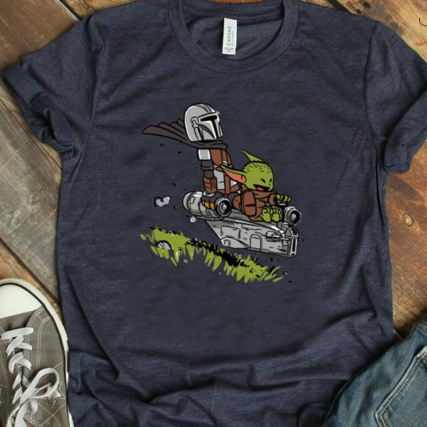 Official The Mandalorian Vault Mando and Child Baby Yoda shirt