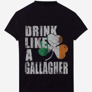 Original Drink Like A Gallagher St Patricks Day Irish shirt