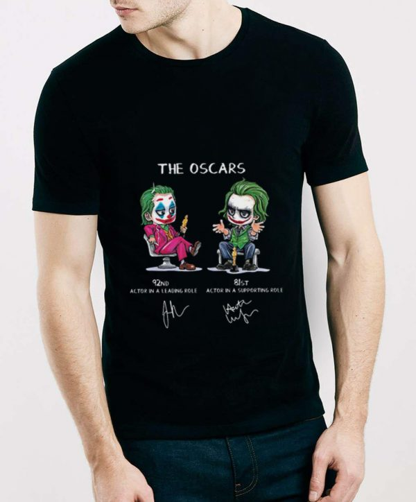Original Joker The Oscars 92nd Actor In A Leading Role 81st Actor In A Supporting Role shirt