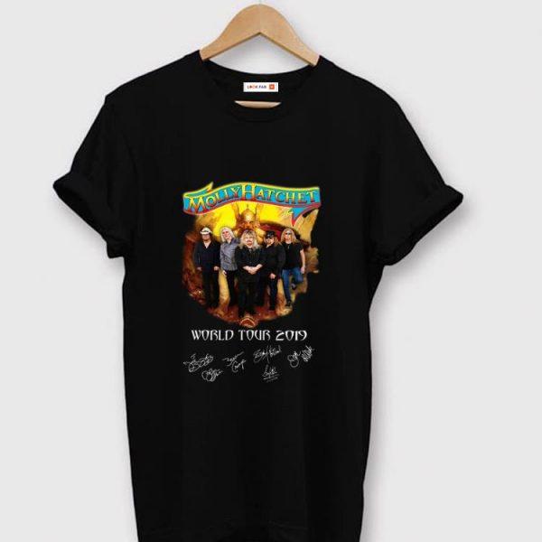 Original Molly Hatchet world tour 2019 signatures shirt