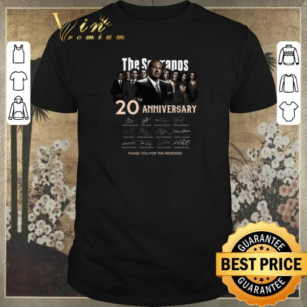 Original The Sopranos 20th anniversary signed thank you for the memories shirt sweater
