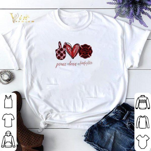 Peace love cure firefighter shirt sweater