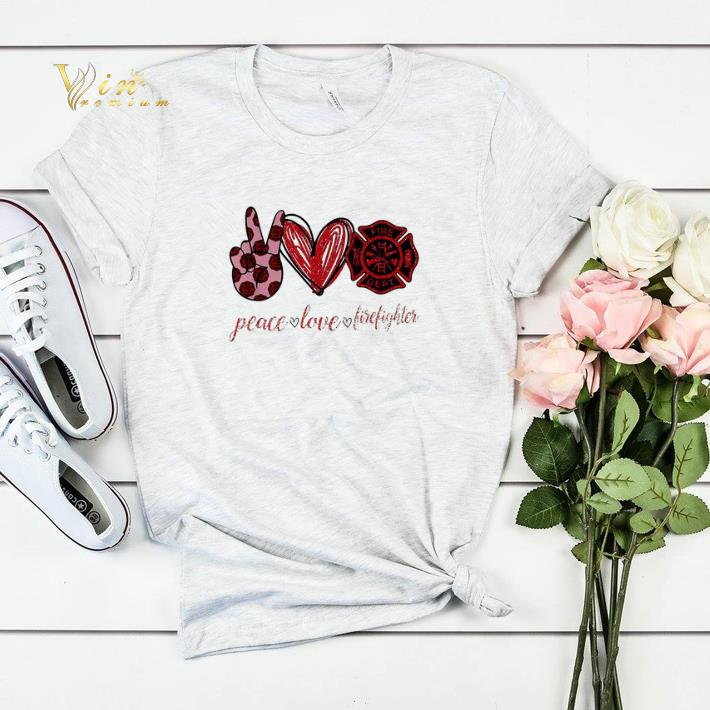 Peace love cure firefighter shirt sweater 4 - Peace love cure firefighter shirt sweater