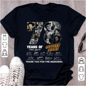 Premium 78 Years Citizen Kane Thank You For The Memories Signatures shirt