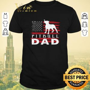 Premium American flag Pitbull Dad shirt sweater