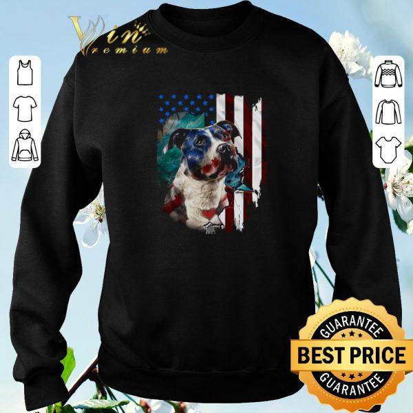 Premium American flag Pitbull dog USA flag shirt sweater