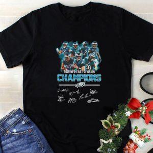 Premium Philadelphia Eagles 2019 NFC East Division champions signatures shirt