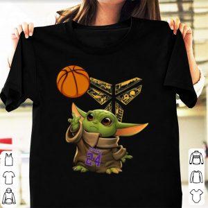 Pretty Baby Yoda Kobe Bryant Black Mamba Basketball shirt