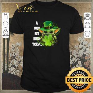 Pretty Baby Yoda a wee bit Irish today St. Patrick's day shirt sweater